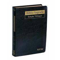 Bíblia Sagrada Trilingue Média Nvi Port / Esp / Inglês Luxo