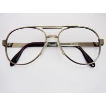 Óculos De Grau Estilo Aviador Grafite Com Ponte Anatômica