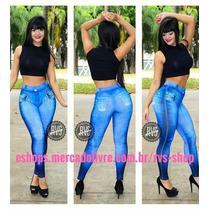Legging Imita Jeans, Roupa De Academia - Roupas Femininas!