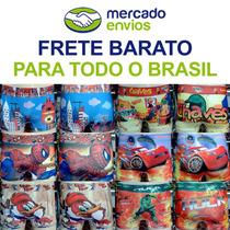 Cuecas Box Infantil Sublimadas - Kit Com 15