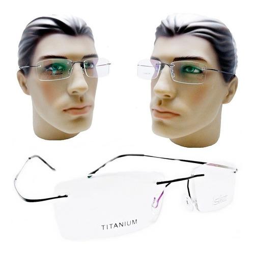 491d5d784 Armação Óculos Grau Sem Aro Masculino Titanio Leve Flexivel. R$ 79