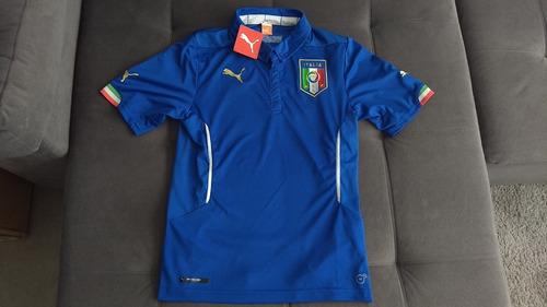 Camisa Oficial Puma Seleção Italia C  Etiquetas Copa De 2014 d191b5c3d4b28