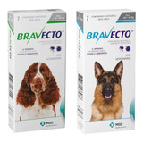 Combo 2 Bravectos Para Cães: (1) 10 A 20 Kg E (1) 20 A 40 Kg