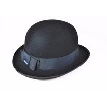 Chapéu Chaplin Bowler Coco Preto - Modelo Ingles