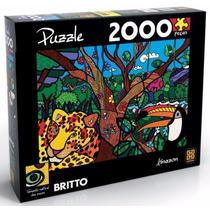 Quebra Cabeça Puzzle 2000pç Romero Britto Amazon Grow