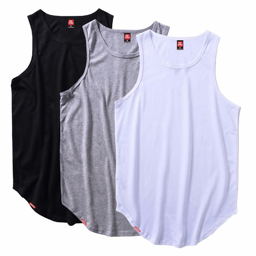 Kit 4 Regatas Longline Oversized - Camiseta Regata Masculina e42fbd9e8da