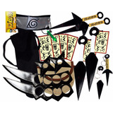 Kit Ninja Naruto Kunai Colar Verd Shuriken Bandana Minato Ke