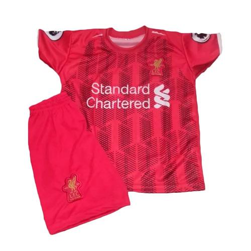 Conjunto Infantil Liverpool Uniforme 2019 M.salah Criança - R  32 en ... 56b1cd3b96d3b