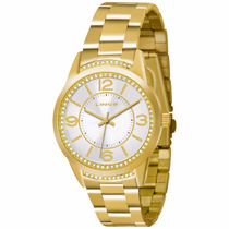 Relógio Feminino Lince Analógico Dourado Lrgj034l S2kx