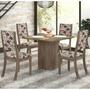Conjunto Sala De Jantar Mesa E 4 Cadeiras Caju Viero