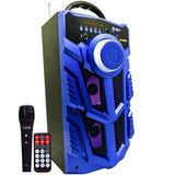 Caixa De Som Bluetooth Amplificada Portátil Bateria Usb +nfe