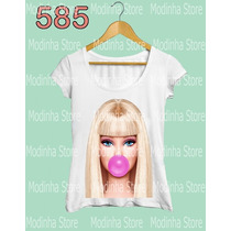 Blusa Tee Tshirt Barbie Boneca Bola Chiclete Look Fashion
