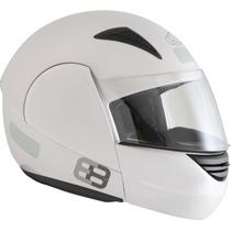Capacete Motos Modelo E08 Rocop 60 Branco (articulado)
