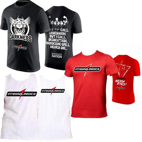 Kit Camiseta Darkness + Regata Branca + Camiseta Vermelha 77252d44bb560