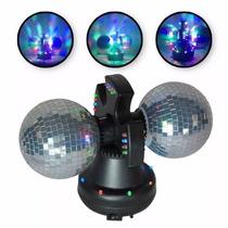 Luminária Com 2 Globos Espelhados, Motor E Leds Frete Gratis