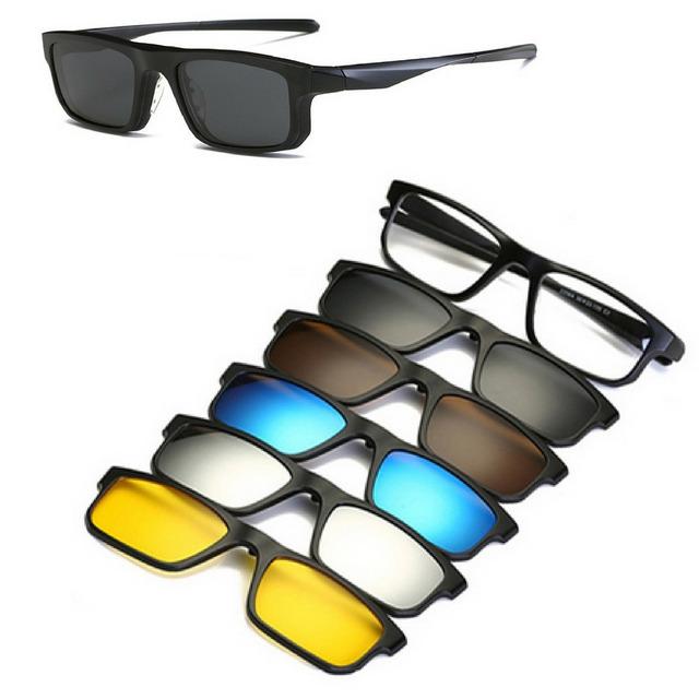 ea29bf41d4c10 Armação Óculos Grau Em Tr Clip On 6 Em 1 Polarizado Uva Uvb em ...