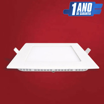 Painel Plafon Embutir Led Spot Slim Quadrado 20w