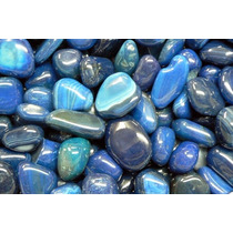 Ágata Azul Pedras Gemas Preciosas Brasileiras Polidas - 2kg