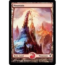 10x Terrenos Full Art - Land Zendikar Montanha Magic