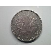 Moeda Mexico 1 Peso 1908 -a.m- Prata