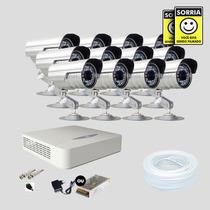 Kit Monitoramento Dvr Stand Alone 16 Canais Jfl 12 Cameras