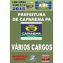 Apostila Concurso Prefeitura Capanema Varios Cargos 2015