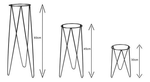 Kit 3 Suportes Metálicos Para Vasos Plantiê- Baixou O Preço