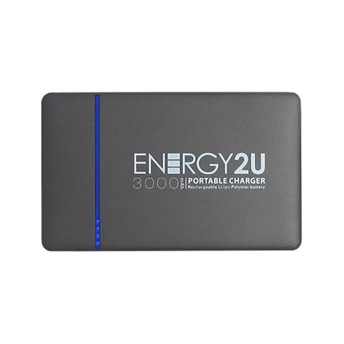 Bateria Externa Energy2u 3.000mah E2u - 03 Cinza Bivolt