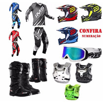 Kit Equipamentos Motocross Trilha Enduro Combo1 Motoetrilha!
