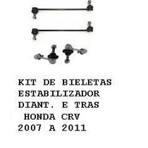 Kit Bieletas Dianteira E Traseira Honda Crv 2006 A 2011