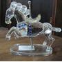 Cavalo Carrossel Shannon Em Cristal #1140
