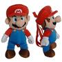Mochila Pelúcia Super Mario Bros Mario 16-inch 380358