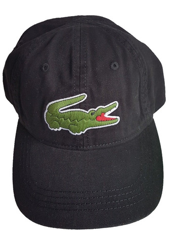 Boné Lacoste Original Preto Big Croc, Compra e Venda abff212431