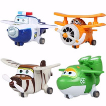 Super Wings Discovery Kids Kit 4 Aviões - Pronta Entrega