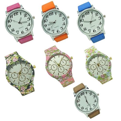 158762d9425 Kit 10 Relógios Feminino Luxo Barato Atacado Revenda Lote 22. R  149.98