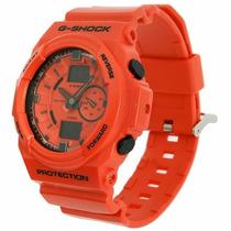 Relógio Casio Gshock Ga-150a-4adr Orange Analógico Digital