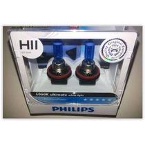 Kit Lampadas Philips H11 Diamond Vision 5000k - Efeito Xenon