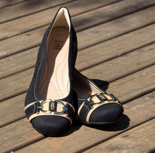 0c79c3547 Sapato Feminino Numeração Especial Dm Extra Camurça Preto