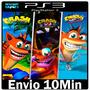 Crash Bandicoot 1, 2 E 3 [* Trilogia - Ps3 Psn Play3 *]