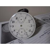 Mostrador Relógio Cronógrafo Bolso Porcelana