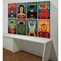 Placas Decorativas Mdf Geeks Nerd Herói Vintage Kit 6 Placas