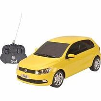 Carro Controle Remoto Volkswagen Gol Amarelo 1:18 Cks Toys