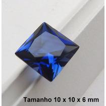 Safira Pedra Preciosa Safira Azul Safira Quadrada 3049