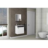 Gabinete Armário Para Banheiro Com Pia Siena Branco_preto