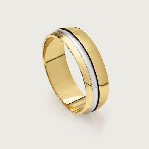 Aliança De Noivado Ou Casamento Em Ouro 18k. Estilo Especia