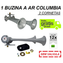 Buzina Ar Para Caminhão Classic 2 Cornetas Metal