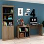 Conjunto Home Office Com Escrivaninha Multifuncional E F