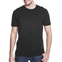 Camiseta Básica Lisa - Preta - Fio 30/1 - 100% Poliéster