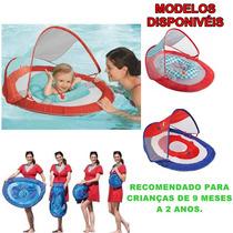 Boia Swimways Para Bebes Com Cabaninha Uv 50+ (importado)