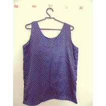 Blusa Feminina Azul Bolinhas Cód. 150 A 151
